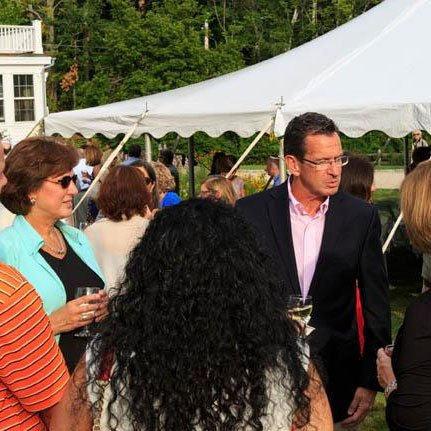 MOMIX in the Garden with more than 200 guests in attendance, including Gov. Dannel Malloy and his wife, Cathy.