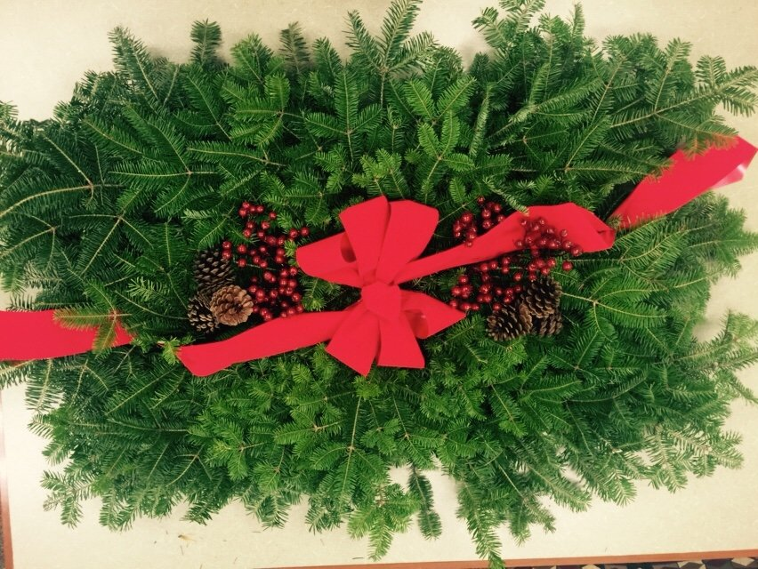 Grave Blanket Wreath