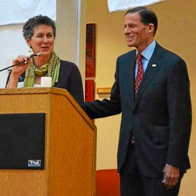 Barbara Spiegel with US Senator. Richard Blumenthal