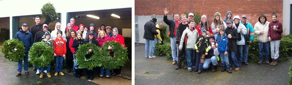 Wreath Day Volunteers